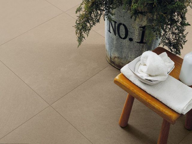 Brave Porcelain Floor Tile Collection Installation