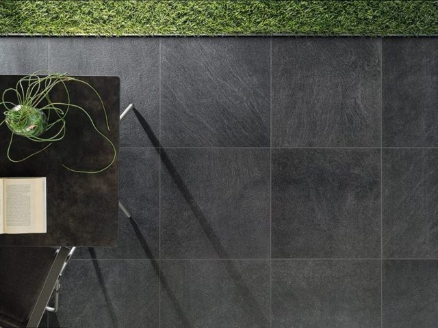 Brave Dark Gray Porcelain Floor Tile Installation