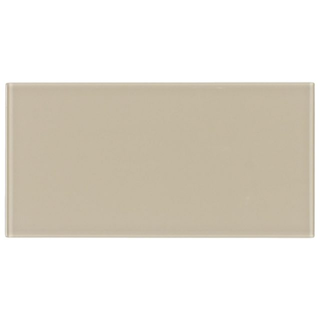 Cosmopolitan Khaki Glass Subway Tile