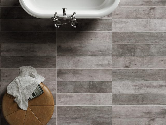 Fearless Porcelain Grey Tile Installation