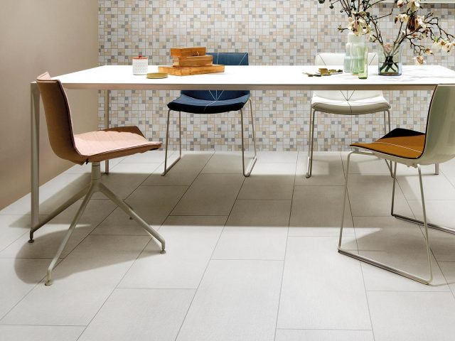 Foulard Collection Tile Installation in Light Grey