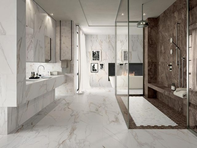 Marquisette Marble-Look Porcelain Tile Collection