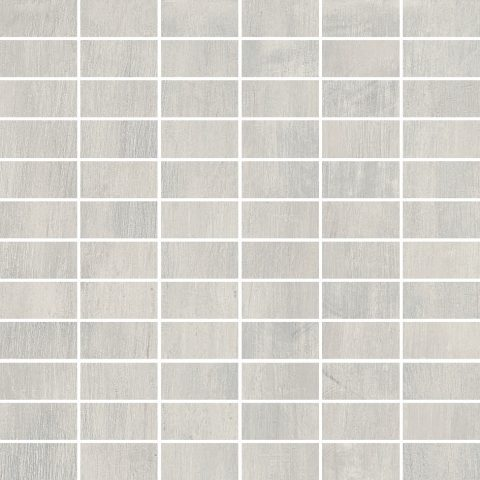Metalized 12x12 Building Block Mosaic White