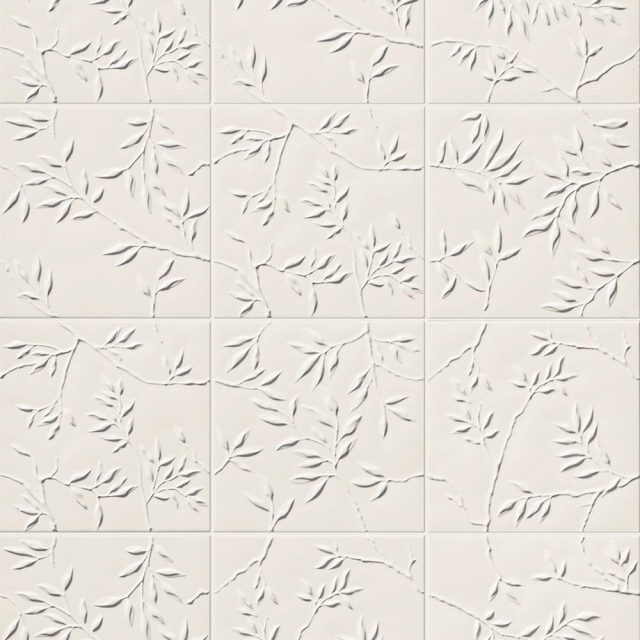 Multidimensional White Nature Tile