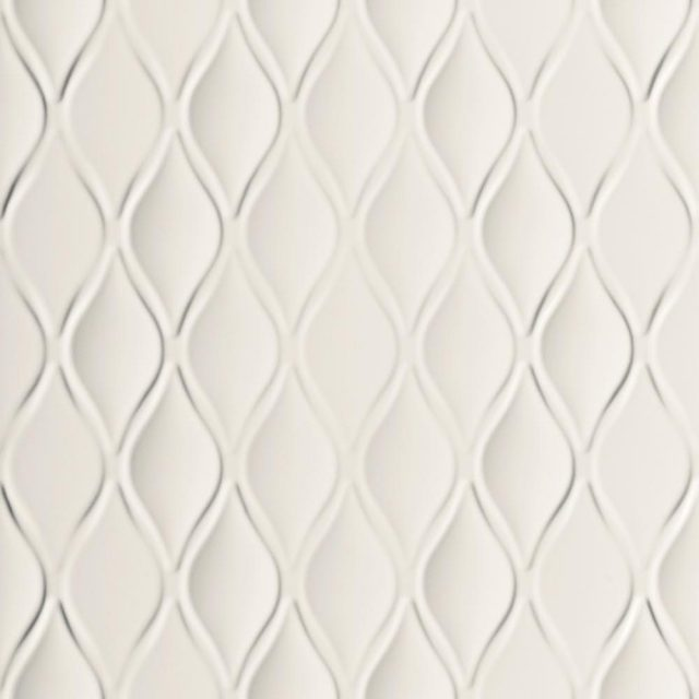 Multidimensional White Drop 3D Textured Tile