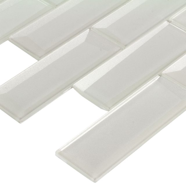 Outlast White Glass Wall Tile