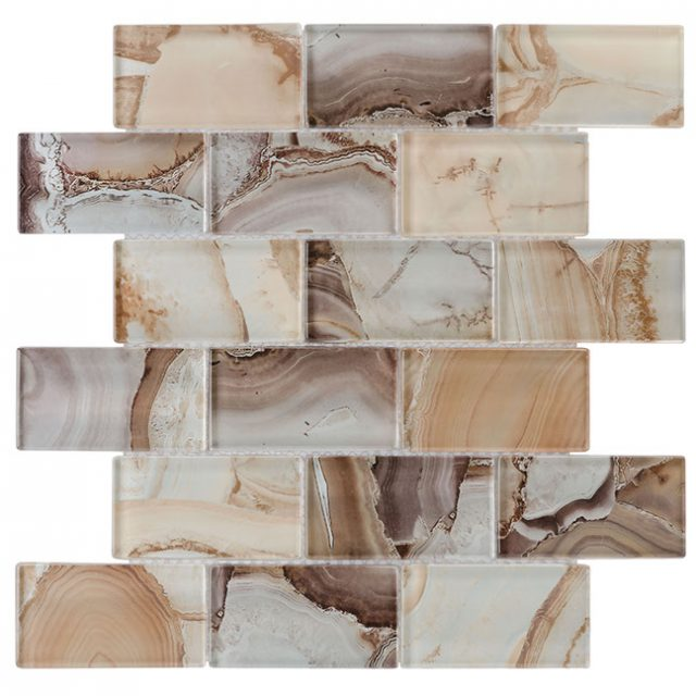 Tempo Beige Onyx Glass Wall Tile