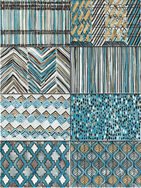 Limbo Teal Pattern Mix