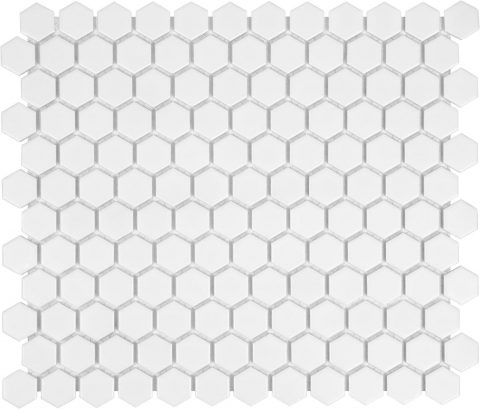Ageless 1 Inch White Hexagon