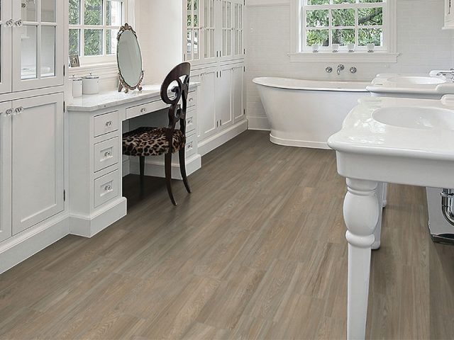Antique Wood Porcelain Tile Installation