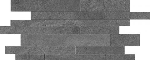 Cascade Grey Random Strip Mosaic
