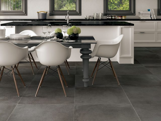 Catania Dark Grey Concrete-Look Porcelain Floor Tile