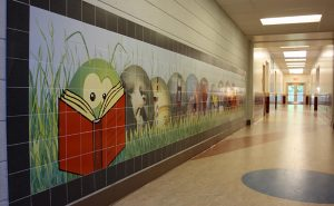 Custom Wall Tile Mural for Metacomet Elementary School