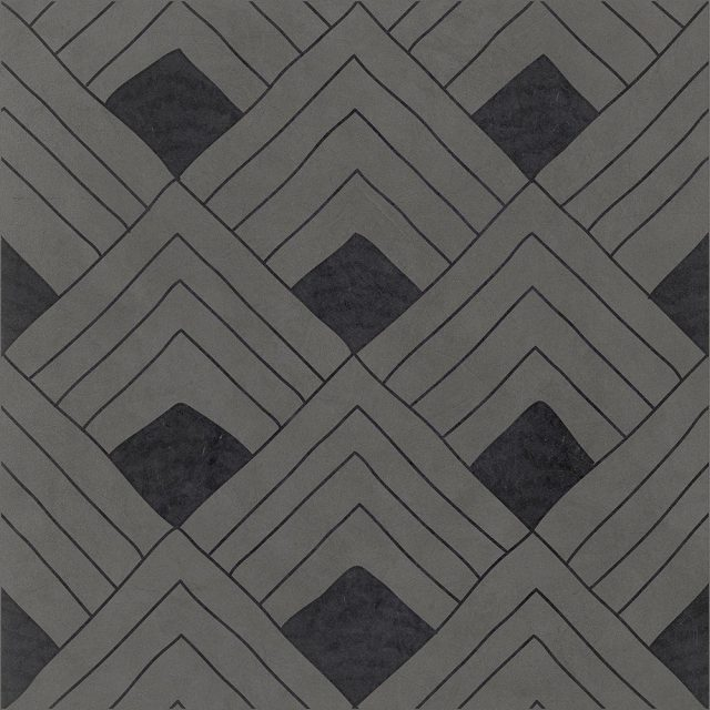 Tangle Fish Grey Patterned Porcelain Tile