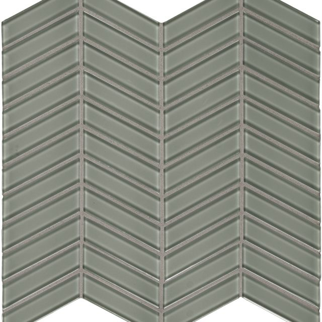 Admired Green Grey Chevron